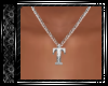 Silver T Necklace SR