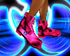 Pink rave boots