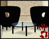 [V] Black wild chairs.