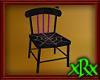 Wood Spider Chair Purple