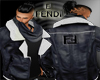 FENDI LEATHER JACKET-BLK