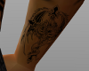 dragon cross wrist tat