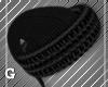 Black Fur Santa Hat