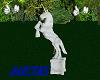 marble  unicorn statue