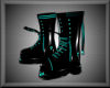 Teal Toxic Rebel Boots