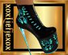 [L] DRAGON Teal Boots F