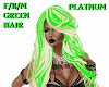 F/B/M/PLATNUM/GREEN/HAIR