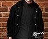 Black hoody coat.