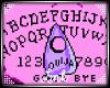 [L] Pink Ouija Sticker