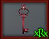 Fancy Key Decor Red