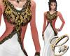 Medieval Gown Peach Wht