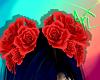 *V* Hair Roses Red