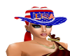 USA Hat with Pony Tails