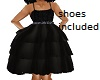 kids black sparkle dress