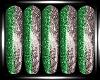 Green Silver Nails