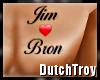 Jim heart Bron tattoo