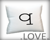 .LOVE. Letter q Pillo