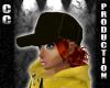 CC Black Cap with hair