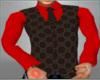 GUCCI/RED DRESS SHIRT