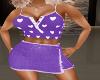 Purple Heart Skirt Set