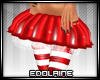 E~ X-mas Skirt Red