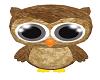 Stuffed Brown Baby Owl