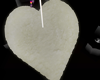 :3 White Heart Fur Rug