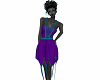 Fae Dress Purple Teal