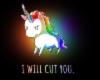Stabby Unicorn Rainbow J