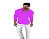 Fushia/White Jeans