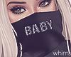 Hot Black Baby Mask