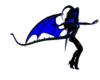 black/blue demon wings