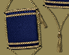 Navy Gold Lantern Bag