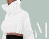 White Crop Sweater