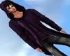 Purple Hooded Jacket