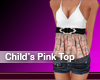Childrens Pink Top