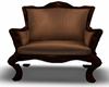 BROWN WOOD CHAIR