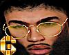 1God Drip Gold Glasses