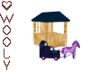 Playhouse w horse