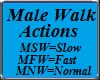Male Walk Actions