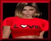 F Valentine Tee Red LOVE