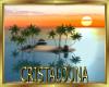 Pacific sunset island
