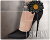 [Is] Flower Heels Black