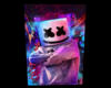 Marshmello Full Background F 1 + Black Background