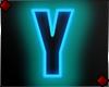 Neon Letter Y