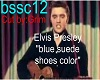 Blue Suade Shoes Color