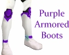 Purple Armored Boots