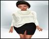 Fall Sweater Skirt White