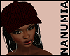 red cap+hair