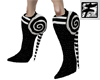 ~F~Blk N White BIG boots